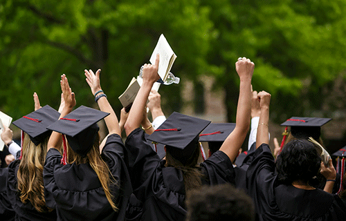 Image of students graduating