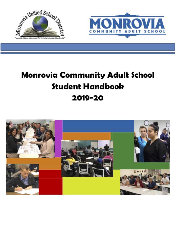 Image of Monrovia Adult School Handbook 2019-20